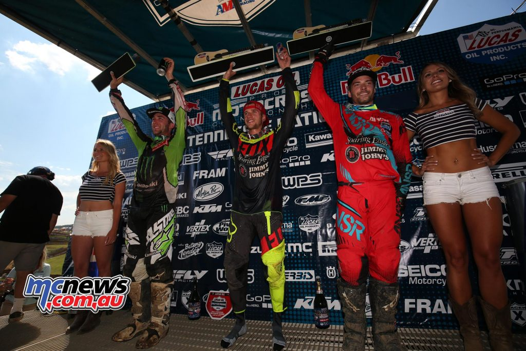 AMA Pro Motocross 2016 - Round Five - Muddy Creek TN - Image by Hoppenworld - 450cc Podium - Ken Roczen