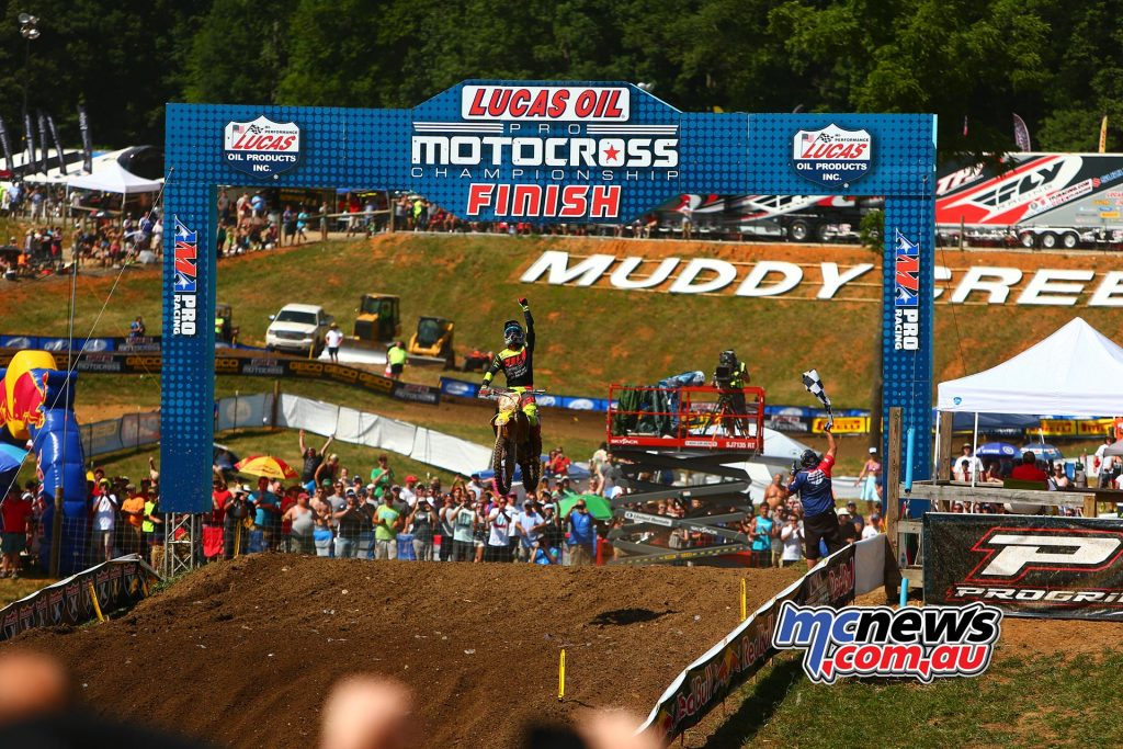 AMA Pro Motocross 2016 - Round Five - Muddy Creek TN - Image by Hoppenworld - Ken Roczen wins