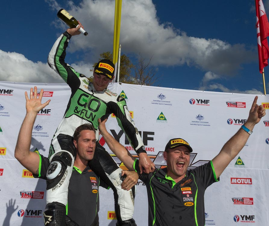 Sam Clarke celebrates victory at Wanneroo - Image by TBG