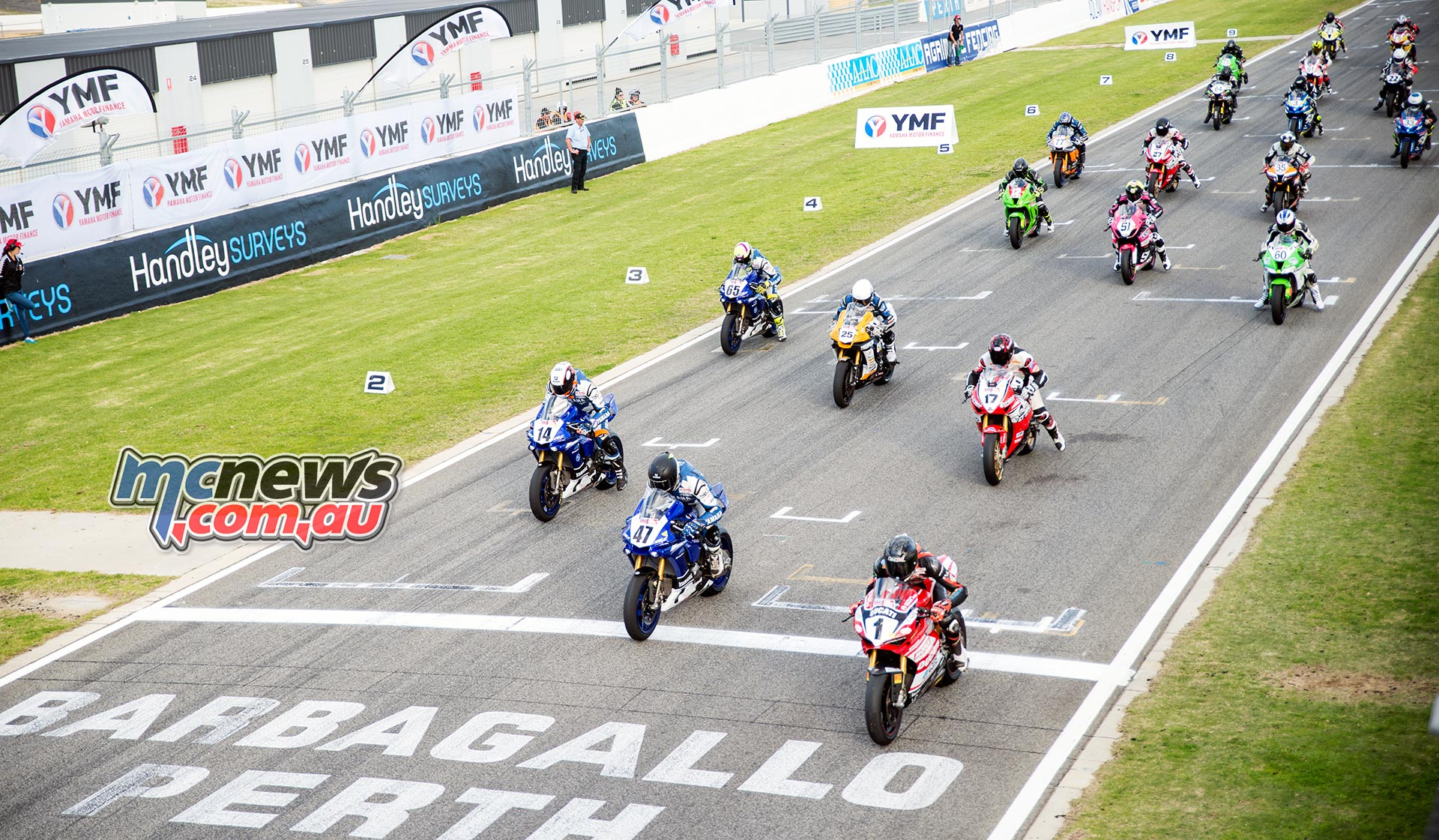 ASBK 2016 - Round Four - Superbike Race Two Start