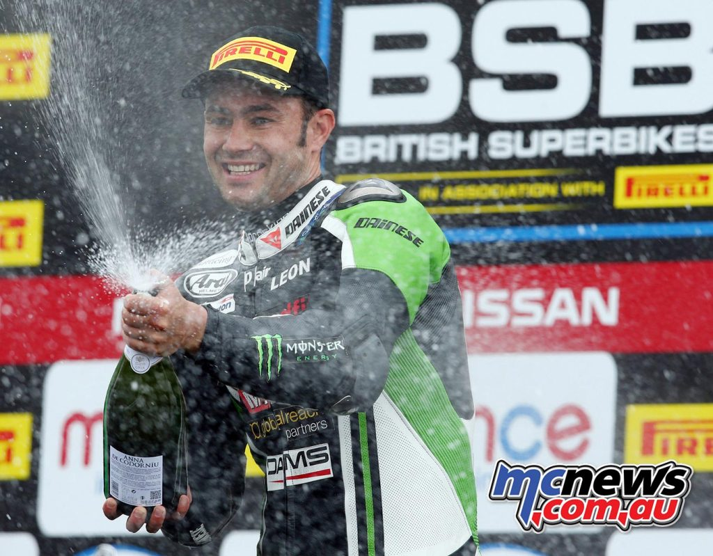 BSB 2016 - Round Four - Knockhill - Race Results - Superbike Race One Winner Leon Haslam