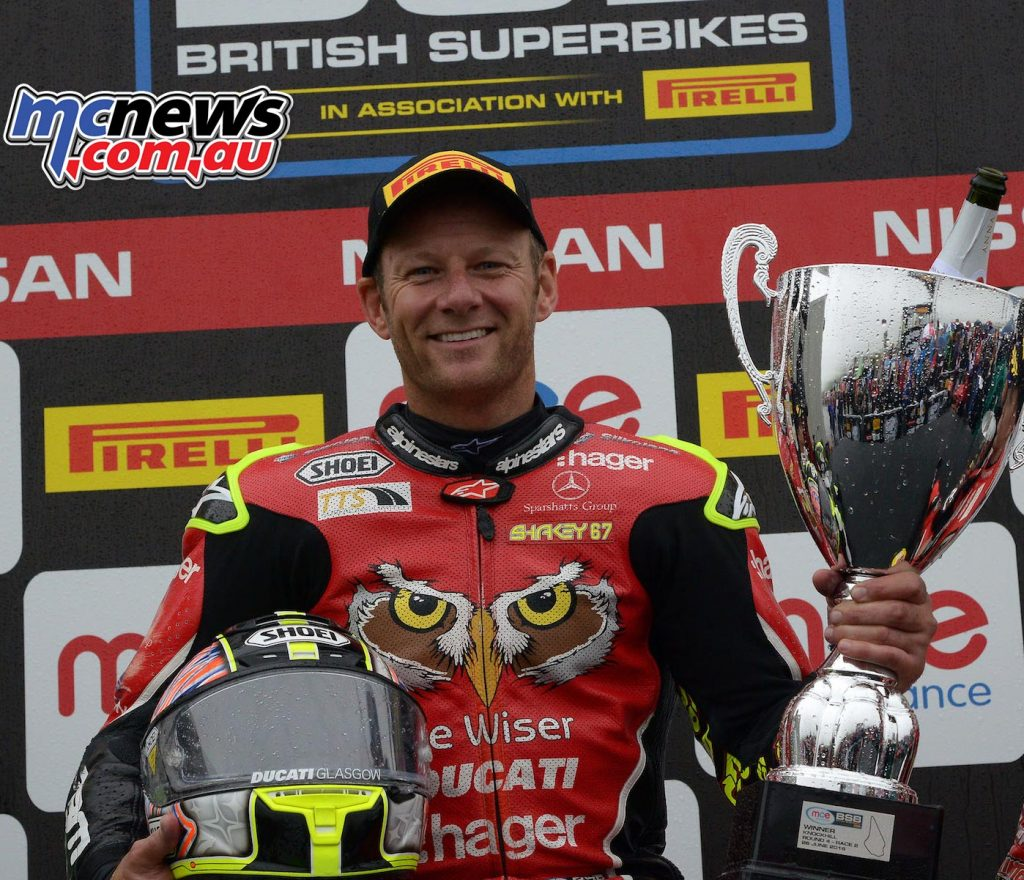 BSB 2016 - Round Four - Knockhill - Race Results - Superbike Race Two Winner Shane Byrne