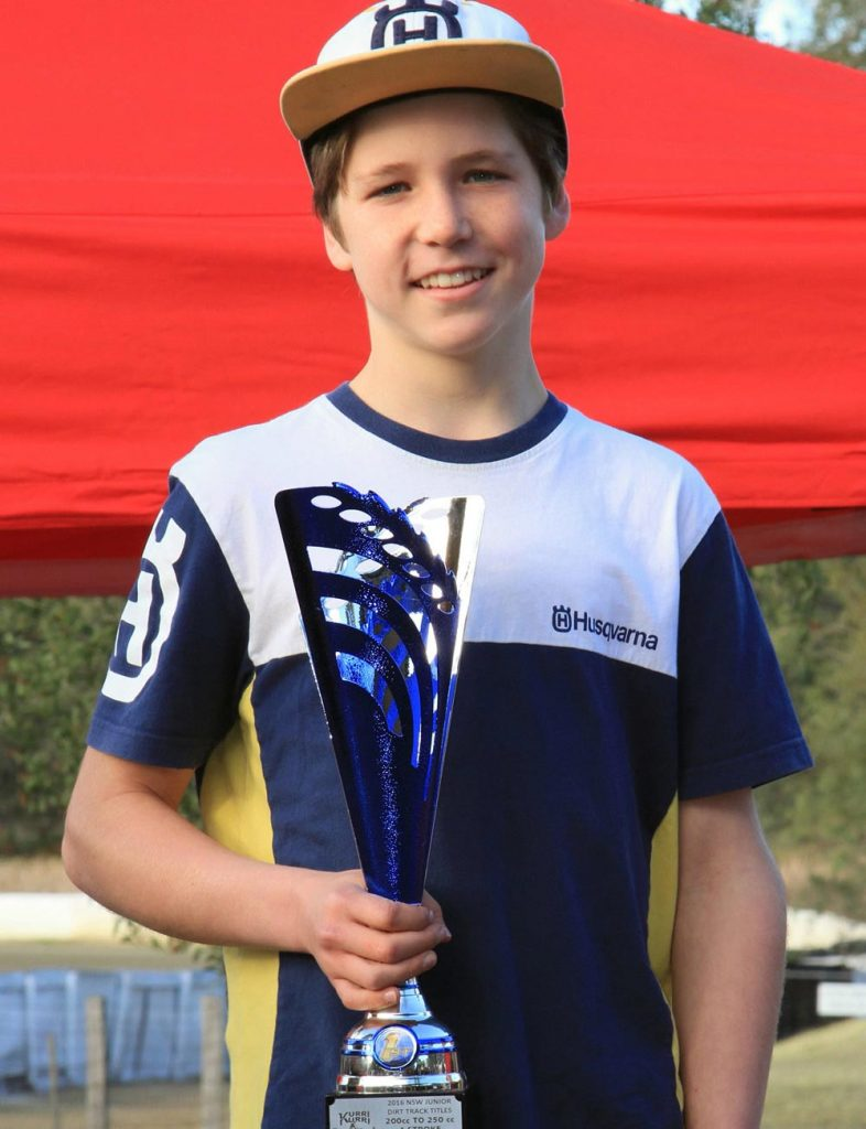 Just 14 years of age, Billy Van Eerde won a pair of 13-16 years NSW Dirt Track titles aboard his Husqvarna FC250 over the weekend - to go with the 7 Australian championships he already has.