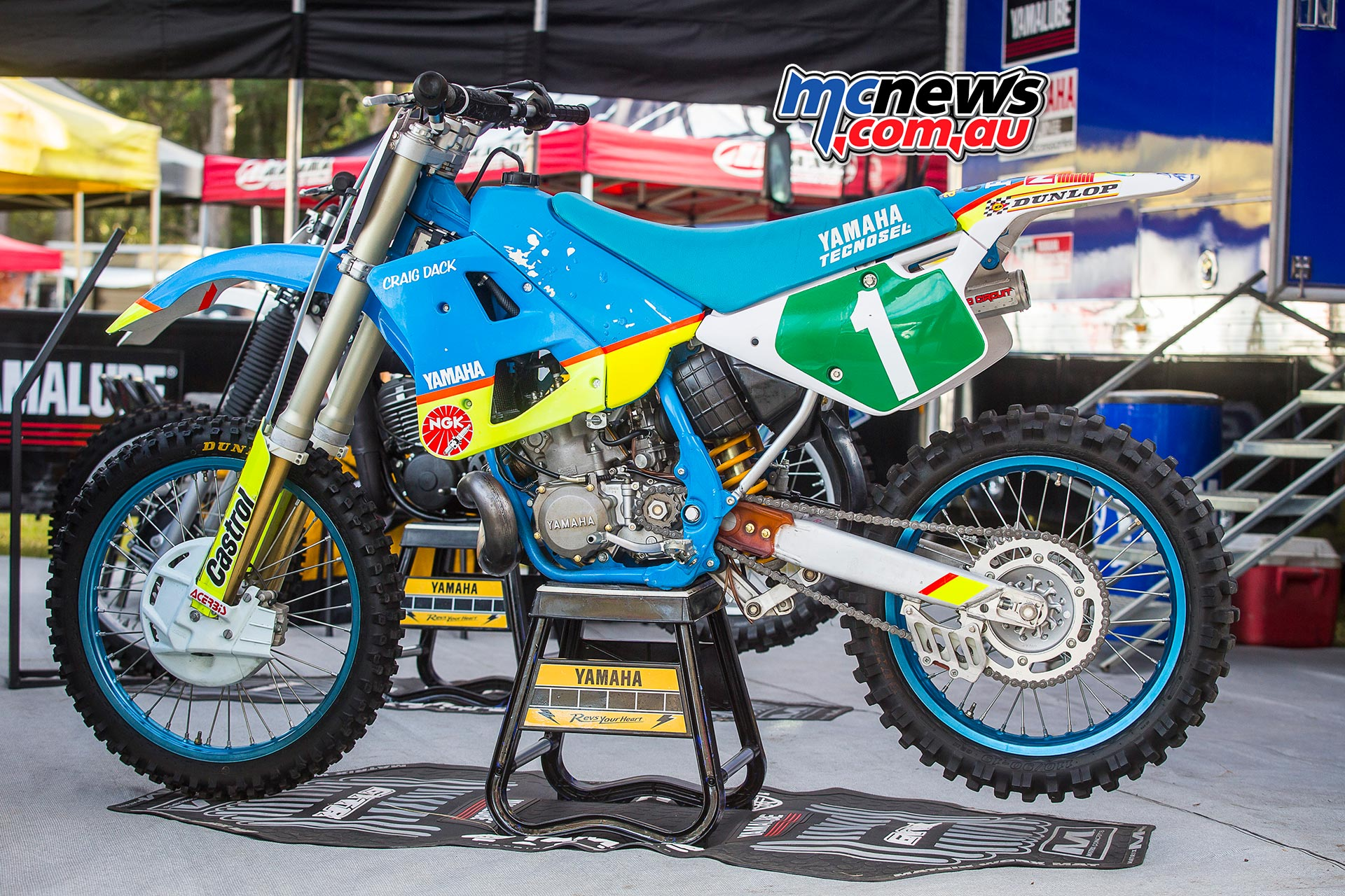 Classic Dirt 2016 - Craig Dack's Championship winning Yamaha YZ250 - Image by Greg Smith