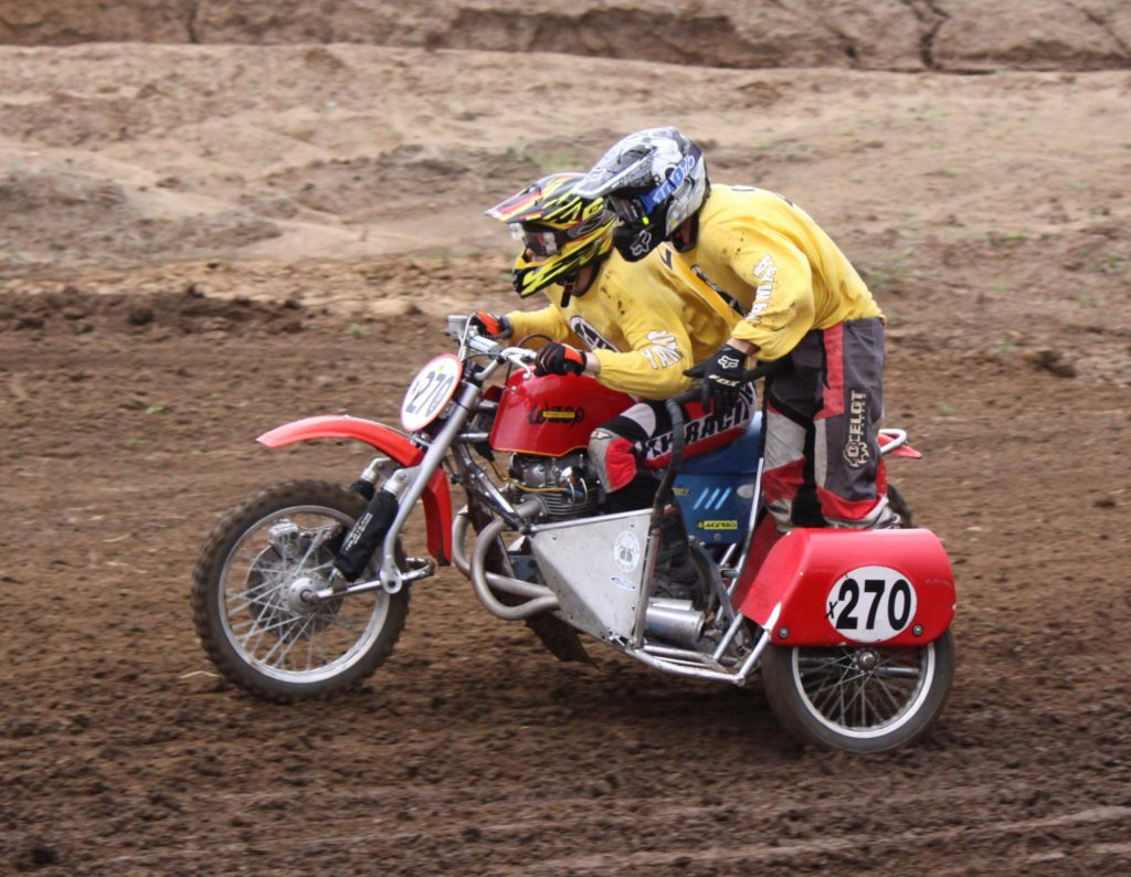 Classic Motocross Championships 2016 - Nick Higgs and Jack Rees won sidecar category