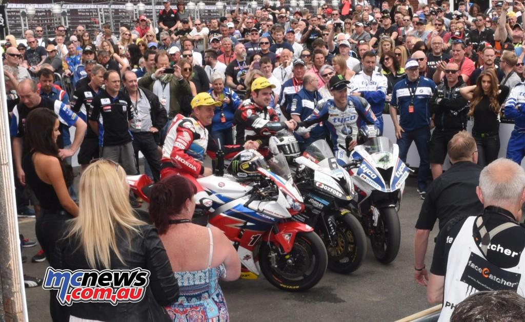 IOM TT 2016 - RST Superbike Podium