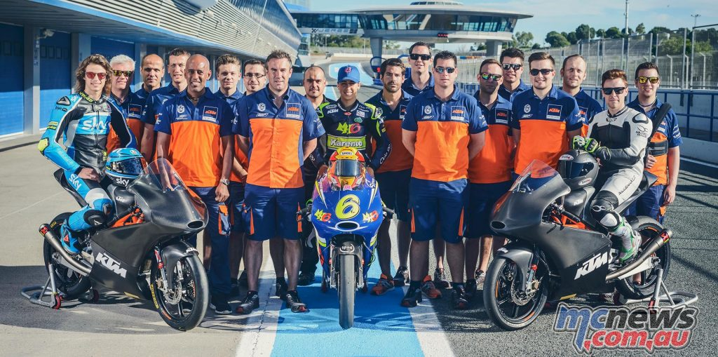 KTM Moto3 Test Team Jerez June 2016