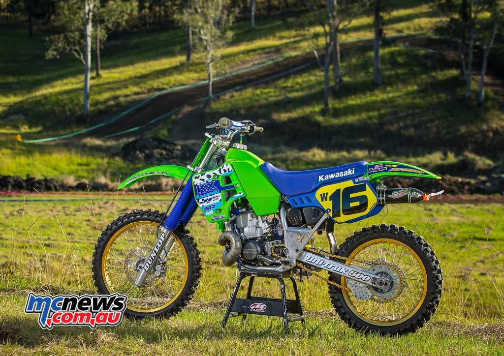 1989 Kawasaki KX500 - Brad Mustard - Image by Greg Smith