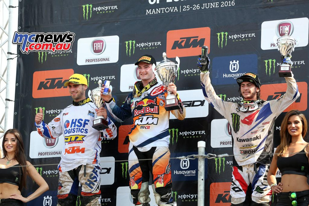 MXGP 2016 MX2 Mantova Podium - Jeffrey Herlings