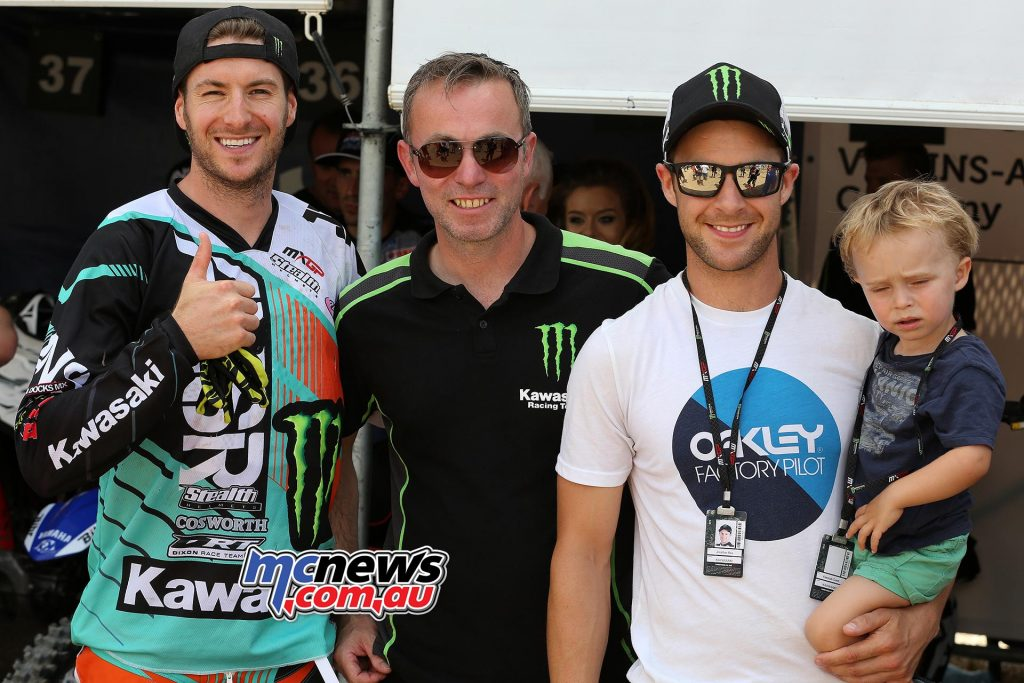 MXGP 2016 Tommy Searle with Jonathan Rea