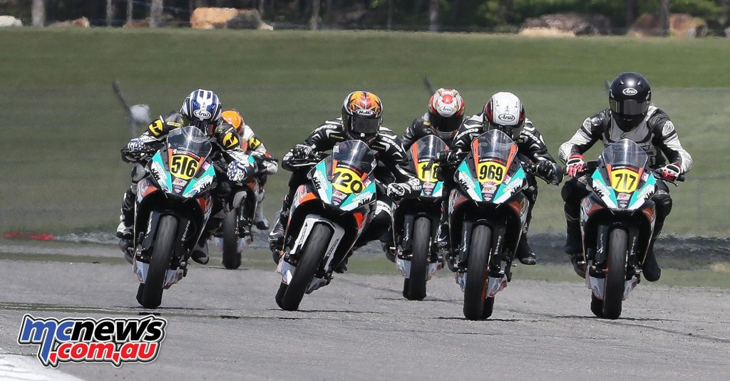 Anthony Mazziotto III (516) won his fourth KTM RC Cup race of the season, besting Asthon Yates (120), Brandon Paasch (969) and Jody Barry (717). Photo by Brian J. Nelson.