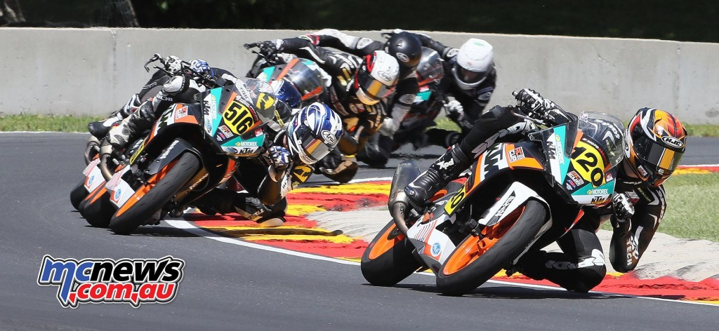 Ashton Yates (120) was another first-time winner at Road America, the young Georgian winning the KTM RC Cup final on Sunday.