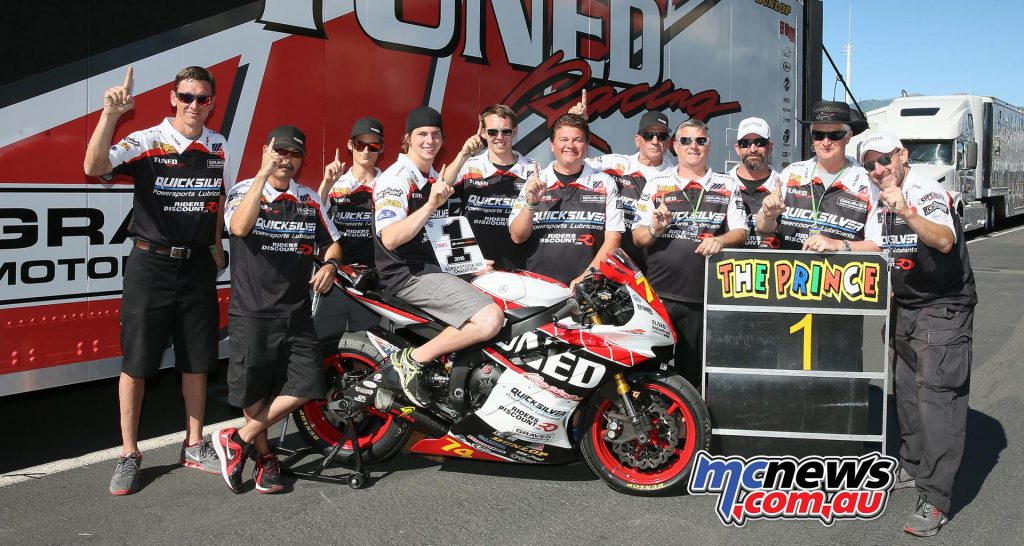 Bryce Prince and his Tuned Racing team clinched the Superstock 600 title on Saturday.