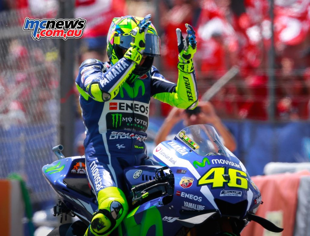 Valentino Rossi's win in Catalunya last year was the last time that he stood on the top step of the podium.