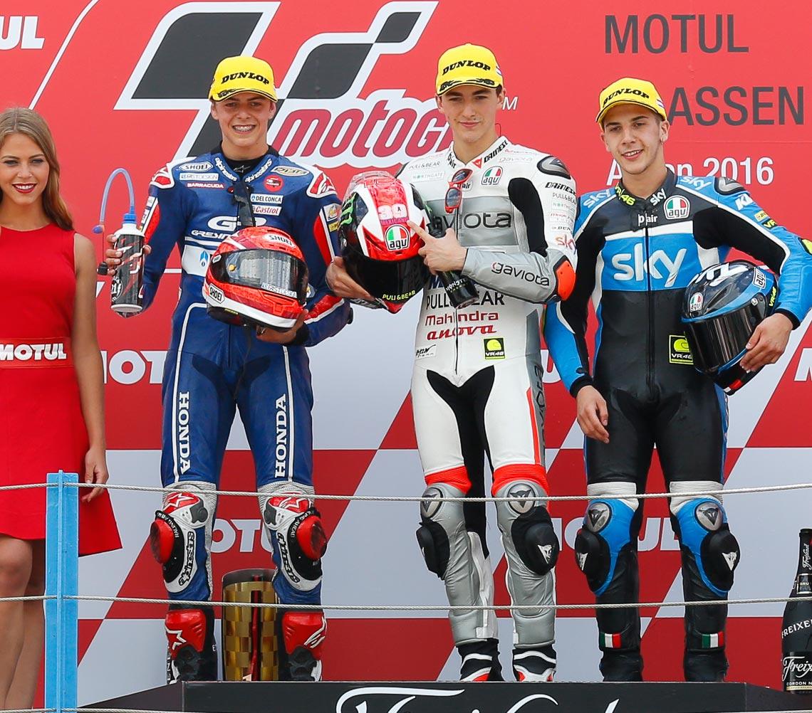 MotoGP 2016 - Round Eight - Assen - Moto2 Podium - Francesco Bagnaia