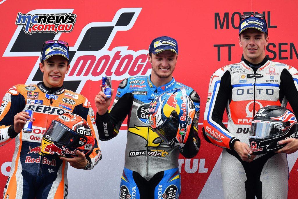 MotoGP 2016 - Round Eight - Assen - MotoGP Podium - Jack Miller, Marc Marquez- Scott Redding