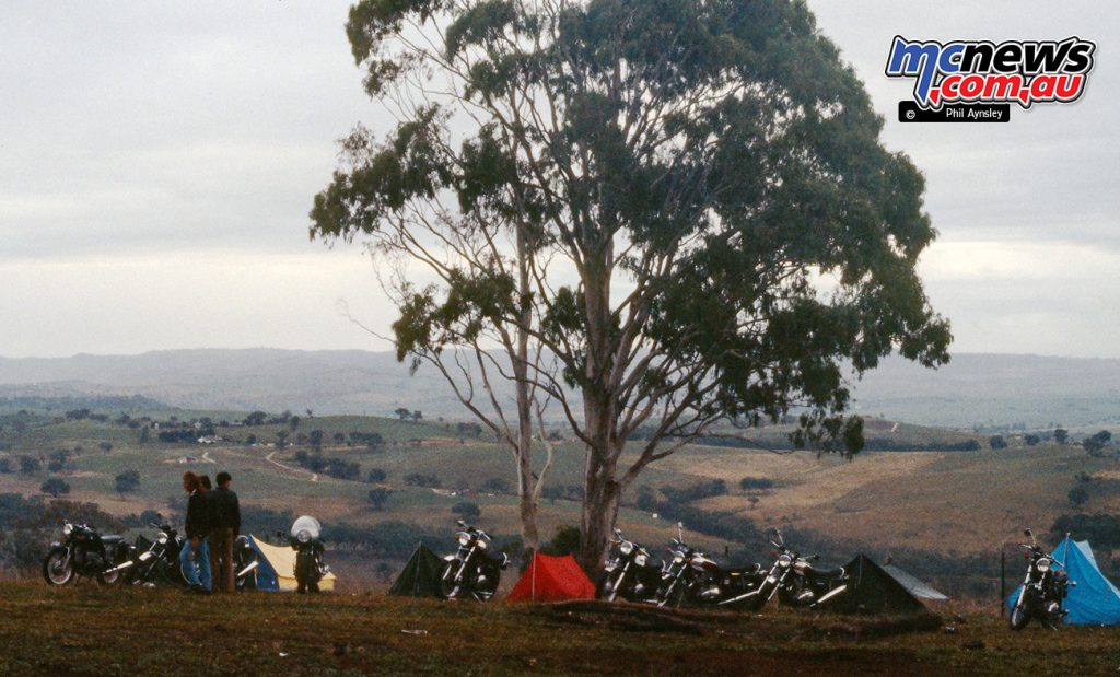 Camping on the mountain.