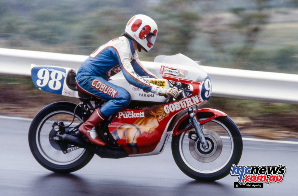 Vaughn Coburn/Yamaha TZ350. For several years Coburn's bikes were decorated by the well known artist Alan Puckett.