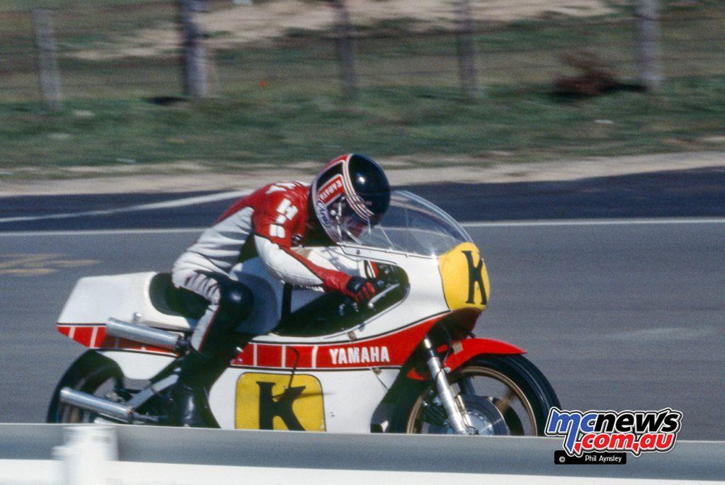 Hidio Kanaya/Yamaha TZ750 on his way to winning the Unlimited GP.