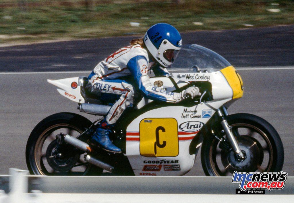 Wes Cooley/Yamaha TZ750.