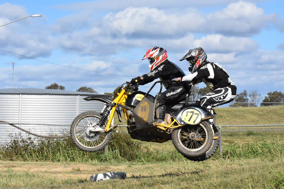 Tony Garry and Darren Smart in action