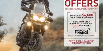 Triumph Ride Away offers - Save up to $4600