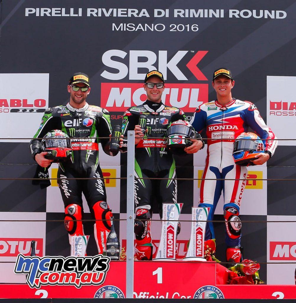 WorldSBK 2016 - Misano - Superbike Race One Podium