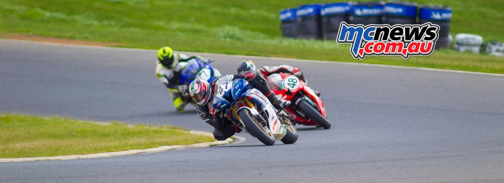 Victorian Interclub Road Racing 2016 - Round Two - Broadford - Image by Cameron White - Craig Doye, Michael Conway, Jack Gallagher