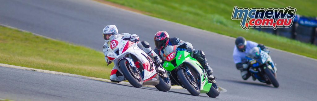 Victorian Interclub Road Racing 2016 - Round Two - Broadford - Image by Cameron White - Steve Rubinic, Dean Archbold, Michael McGuire