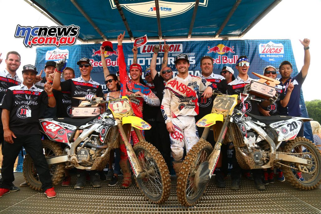 Lucas Oil AMA Pro Motocross 2016 - Round Six - Redbud National - Ken Roczen and Broc Tickle