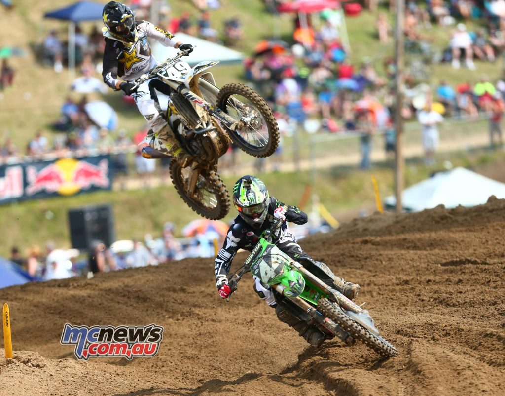 Lucas Oils AMA Pro Motocross 2016 - Round Eight - Spring Creek National, Millville - Image by Hoppenworld - Adam Cianciarulo and Martin Davalos