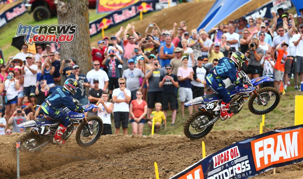 Lucas Oils AMA Pro Motocross 2016 - Round Eight - Spring Creek National, Millville - Image by Hoppenworld - Alex Martin and Jeremy Martin