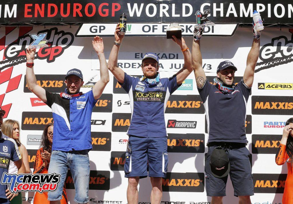 EnduroGP 2016 - Round Six - Spain - E2 Podium