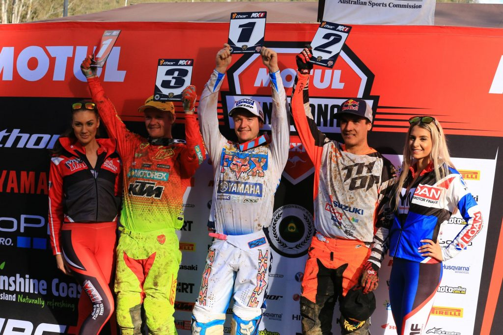 Thor MX1 round seven results 1) Dean Ferris – 67 points 2) Todd Waters – 65 points 3) Kirk Gibbs – 60 points