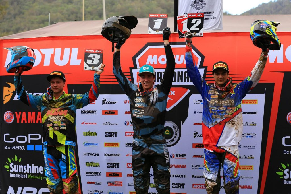 Motul MX2 round seven results 1) Jed Beaton – 67 points 2) Nathan Crawford - 63 points 3) Jayden Rykers – 57 points