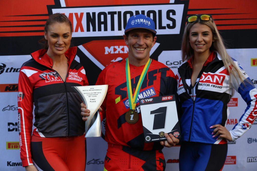 Cameron Taylor - Vets 40+ winner at Conondale MX Nationals