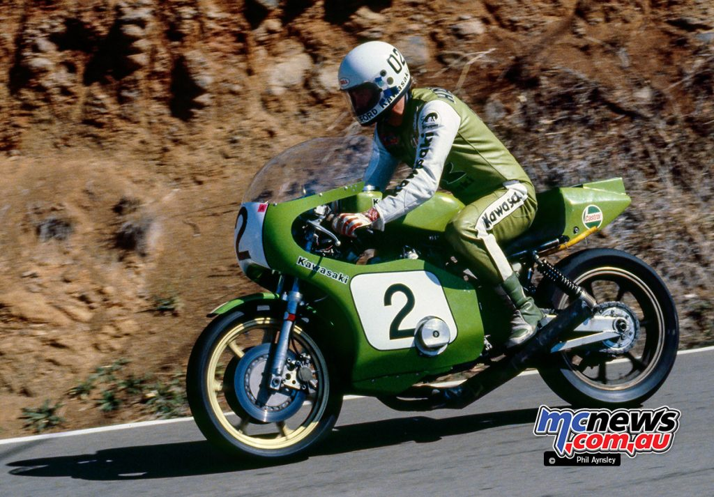 Gregg Hansford was teamed with Jim Budd on the rare Kawasaki Z1000SR in the Arai 500 at Bathurst 1980 - Image by Phil Aynsley