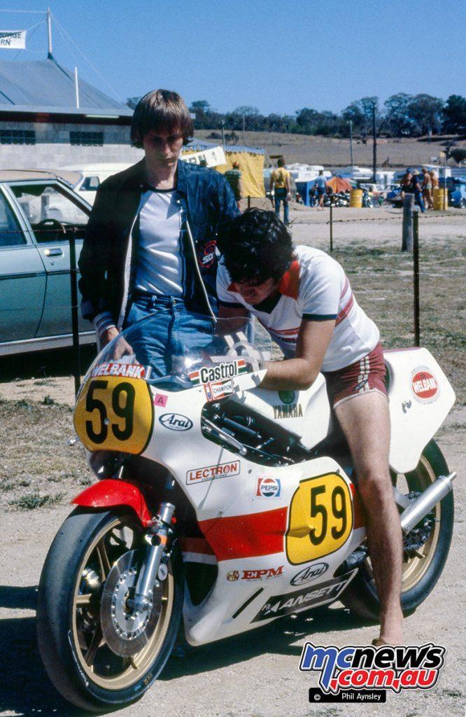 Ron Boulden / Yamaha TZ500 with Warren Willing - Bathurst 1980 - Image by Phil Aynsley