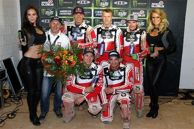Poland has won the opening round of the Monster Energy FIM Speedway World Cup