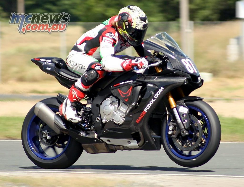 Remy Gardner tries a Yamaha YZF-R1 on for size