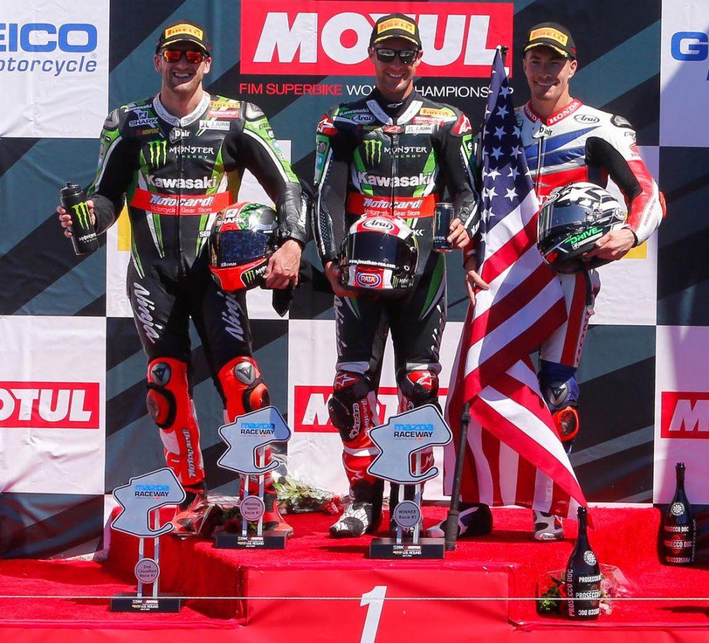 WorldSBK 2016 - Laguna Seca - Race One Podium