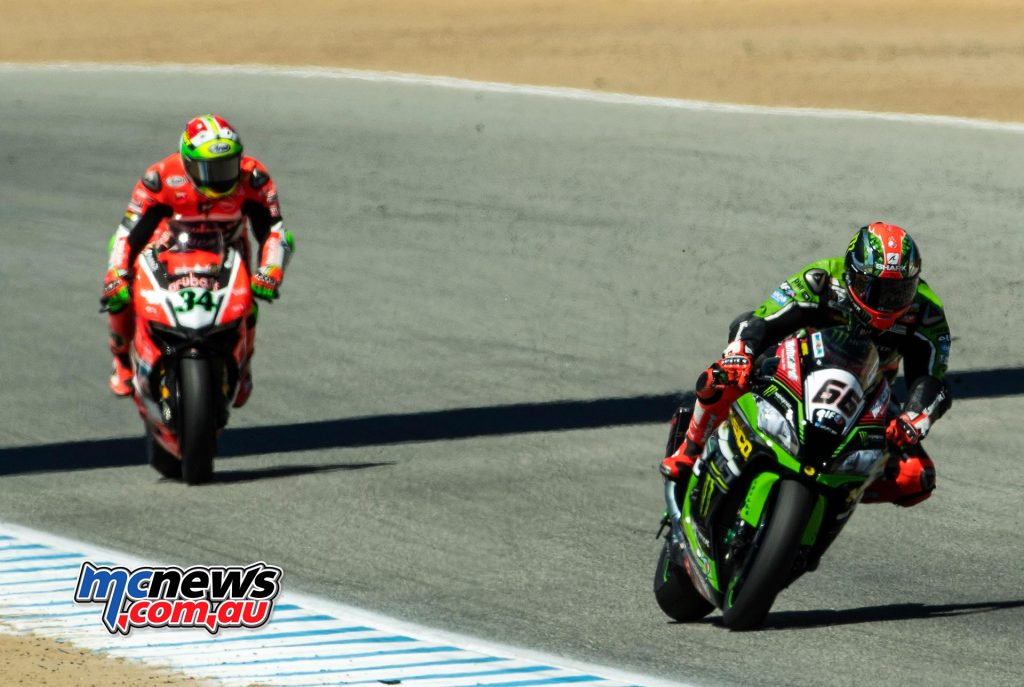 WorldSBK 2016 - Laguna Seca- Race Two - Tom Sykes, Davide Giugliano