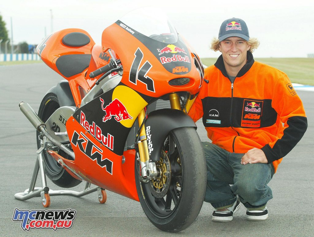 Anthony West with KTM 250 at Donington in 2005