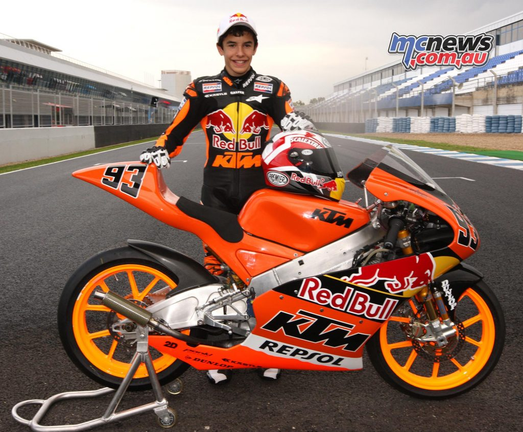 Marc Marquez with KTM 125 in 2008