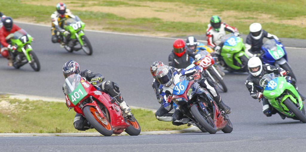 Hartwell Motorcycle Club Championships - Round 5 Broadford 6th & 7th August 2016 - Image by Cameron White - John Naffa, Tim Taylor, Daniel Werner, Nicholas Clair, Gary Burford