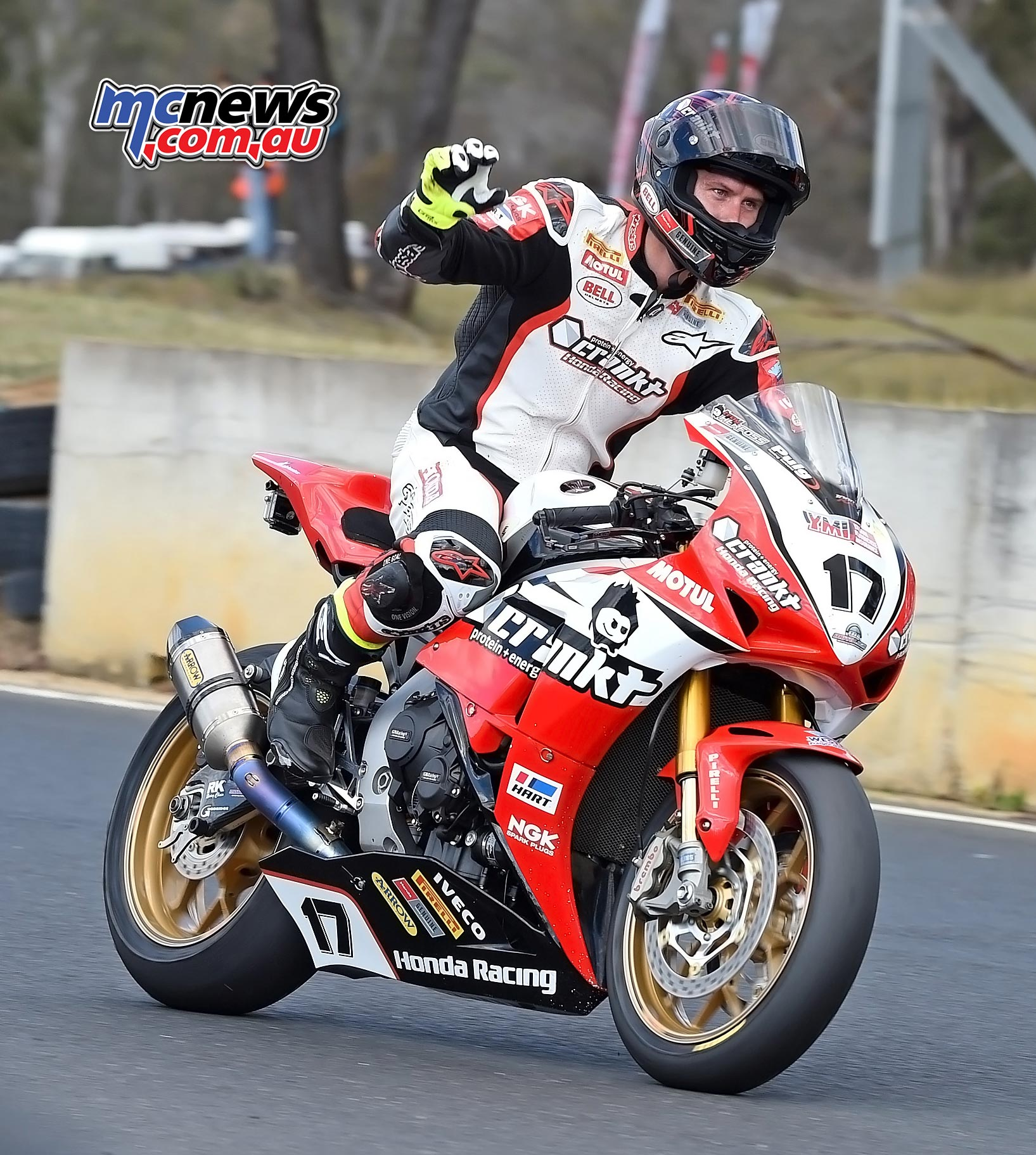 ASBK 2016 -Morgan Park - Troy Herfoss wins Superbike Race One - Image by Keith Muir
