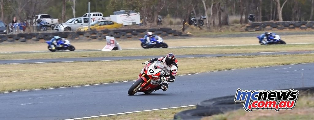 ASBK 2016 -Morgan Park - Superbike Race Two - Image by Keith Muir - Troy Herfoss streets the field
