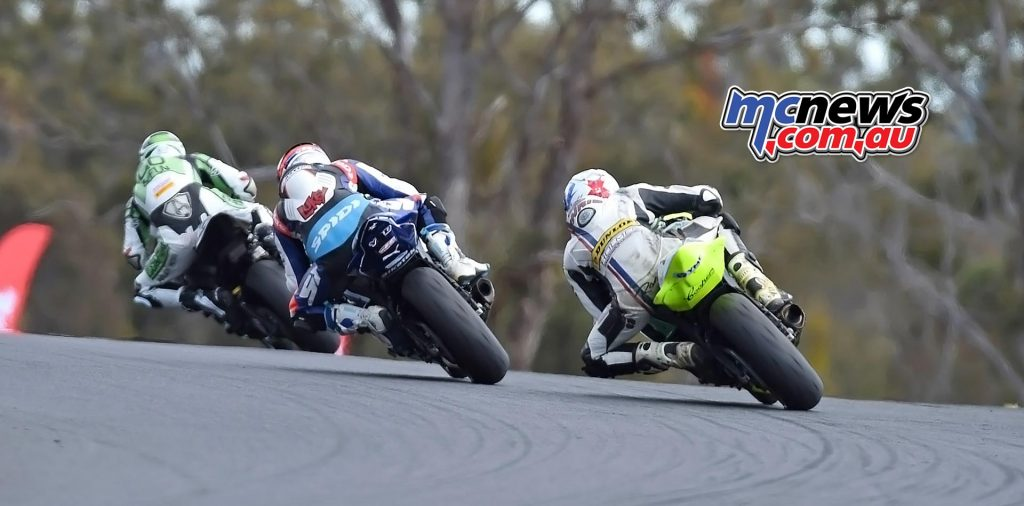 ASBK Morgan Park - Image by Keith Muir - Sam Clarke, Luke Mitchell and Chris Quinn