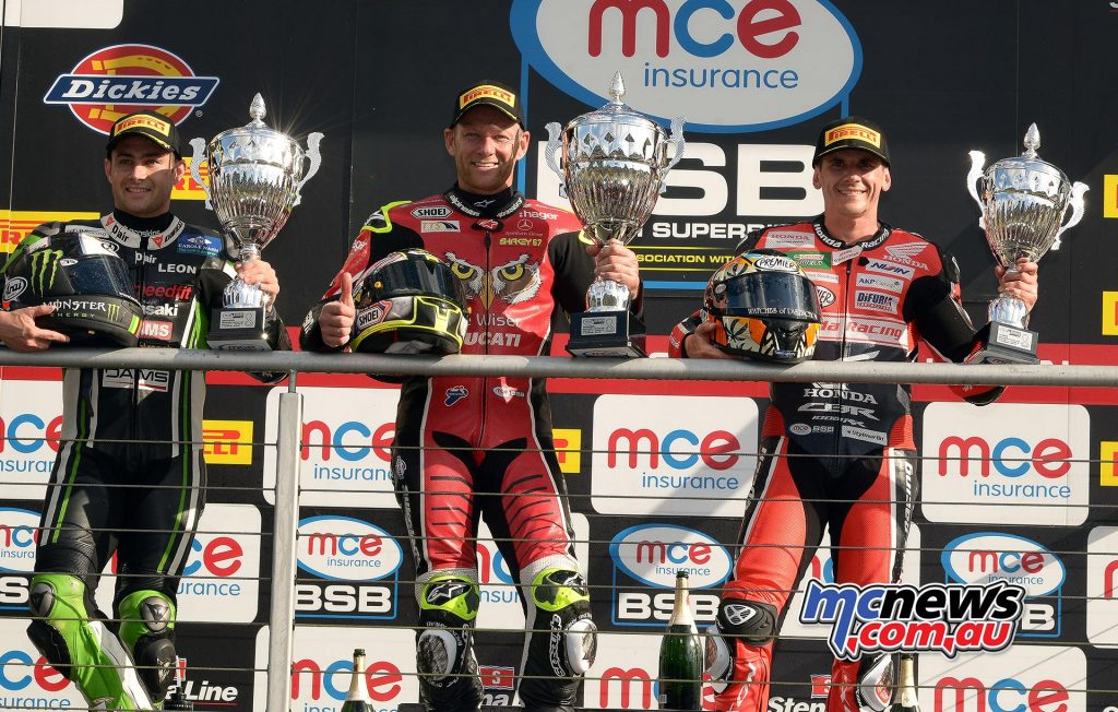 BSB 2016 - Brands Hatch - Superbike Race Two Podium - Image by Jon Jessop