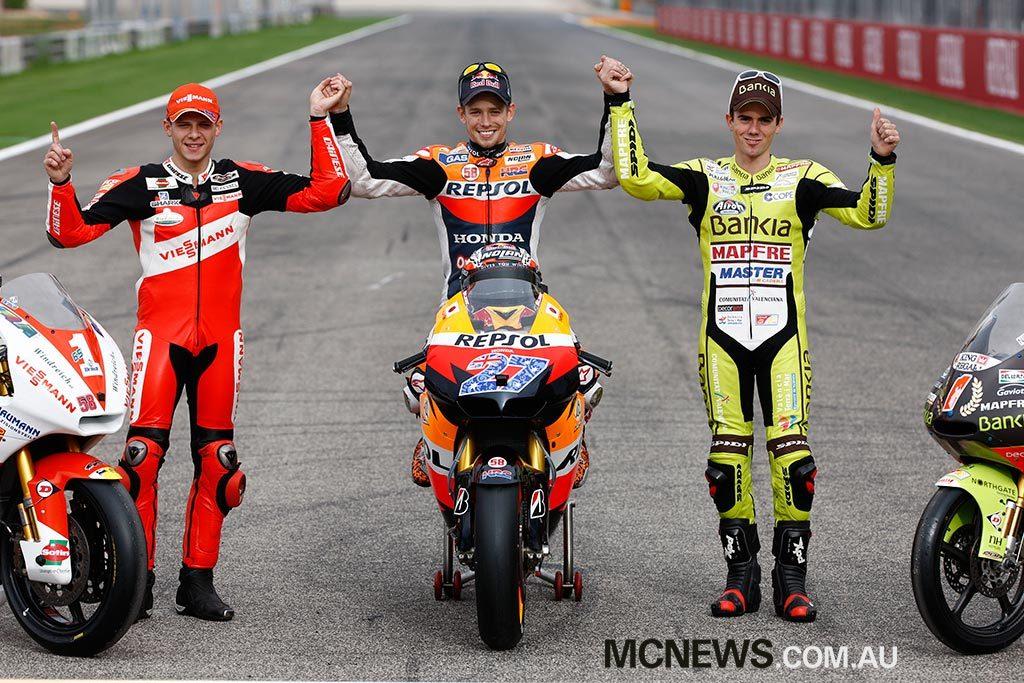 MotoGP Champions 2011 - Stefan Bradl Moto2 - Casey Stoner MotoGP - Nicolas Terol 125cc